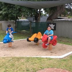 These kids are having a great time in the playground!