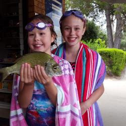 Children love to go fishing when on holiday in Moruya